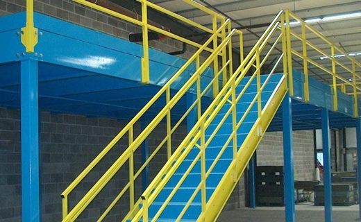 Cubic Designs steel industrial storage mezzanine