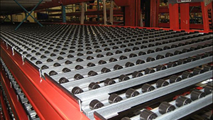 Lanes fit directly on pallet rack with adjustable end stop.
