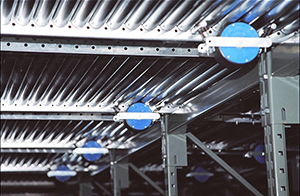 Speed controllers can also be mounted 'indirectly' under full width roller conveyor. Adjustable springs allow for tension to be reduced or increased, in order to better control the rate of flow downlane. Speed controllers are tested to 80,000 cycles.
